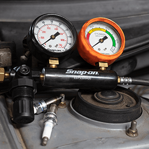 picture of pressure gauges and sparkplugs